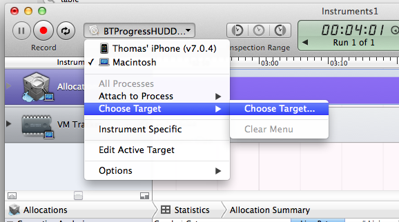 How to use XCode Instruments with the iOS Simulator   Thomas